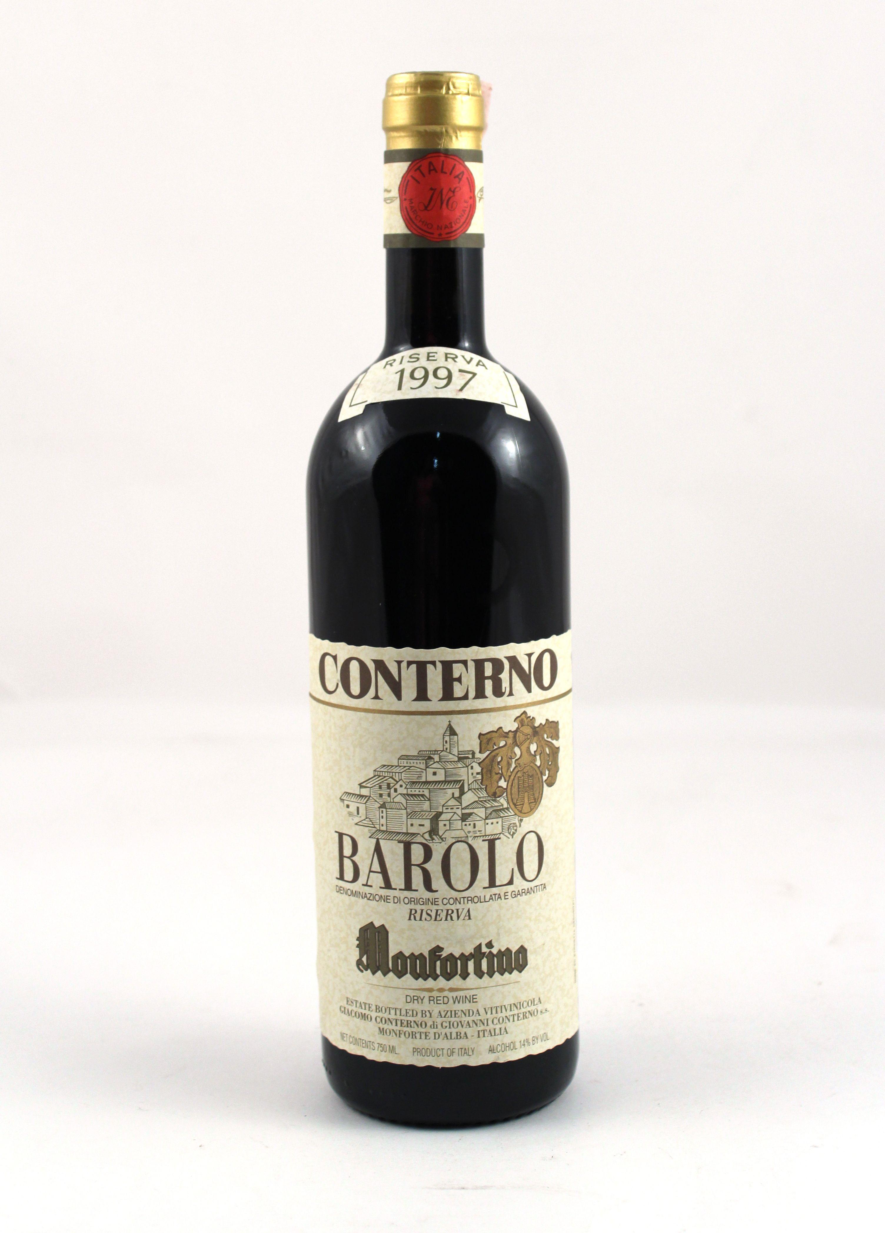 1 X Barolo Monfortino Riserva Giacomo Conterno 1997 750ml Com