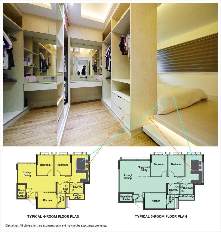 Home Design Ideas For Hdb Flats: 15 Brilliant Layout Ideas For Bidadari