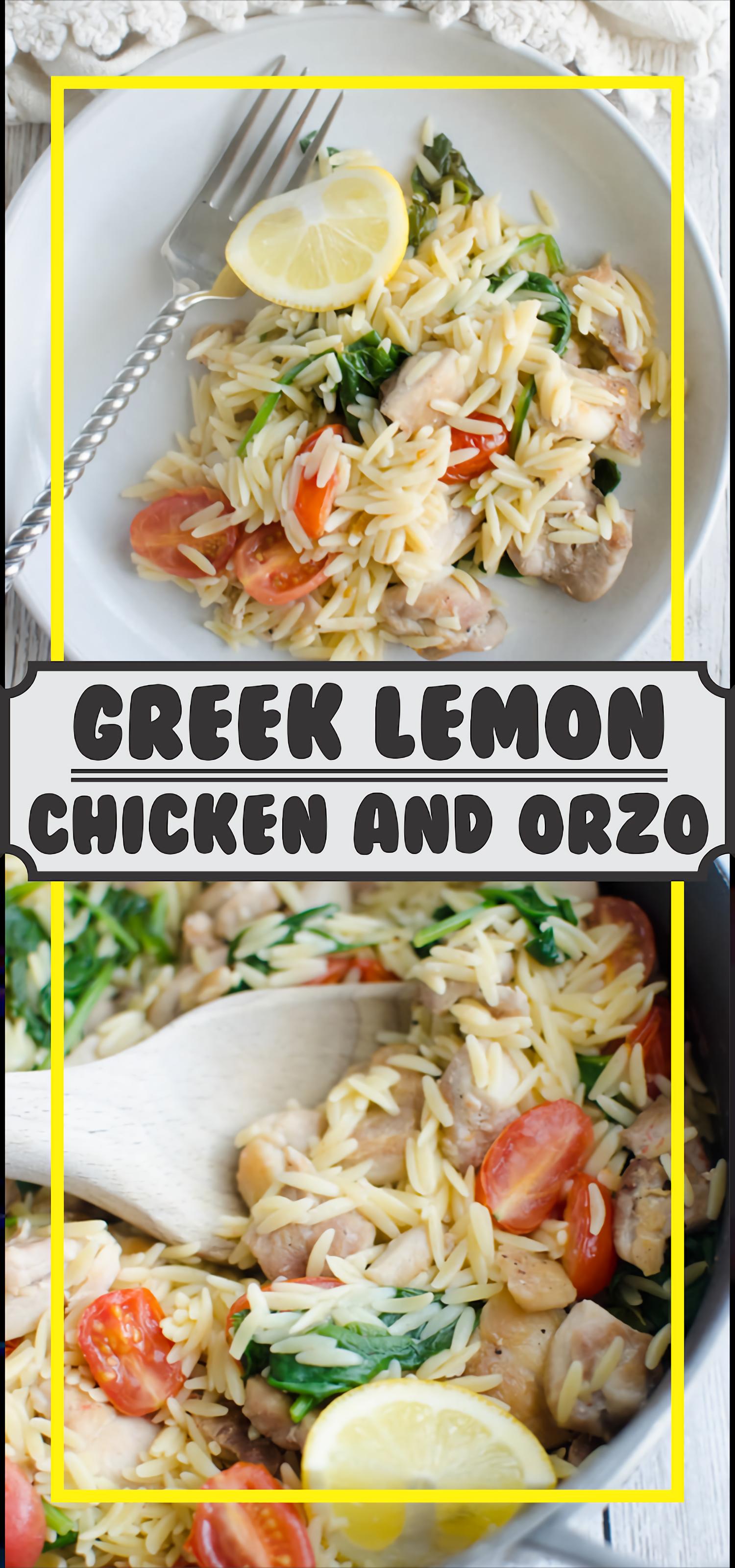 Greek Lemon Chicken and Orzo #Chicken #Foodrecipes #greeklemonrice
