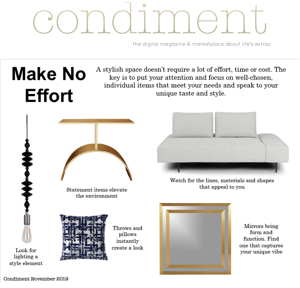 Effortless Interior Style November 2019 Condiment Magazine