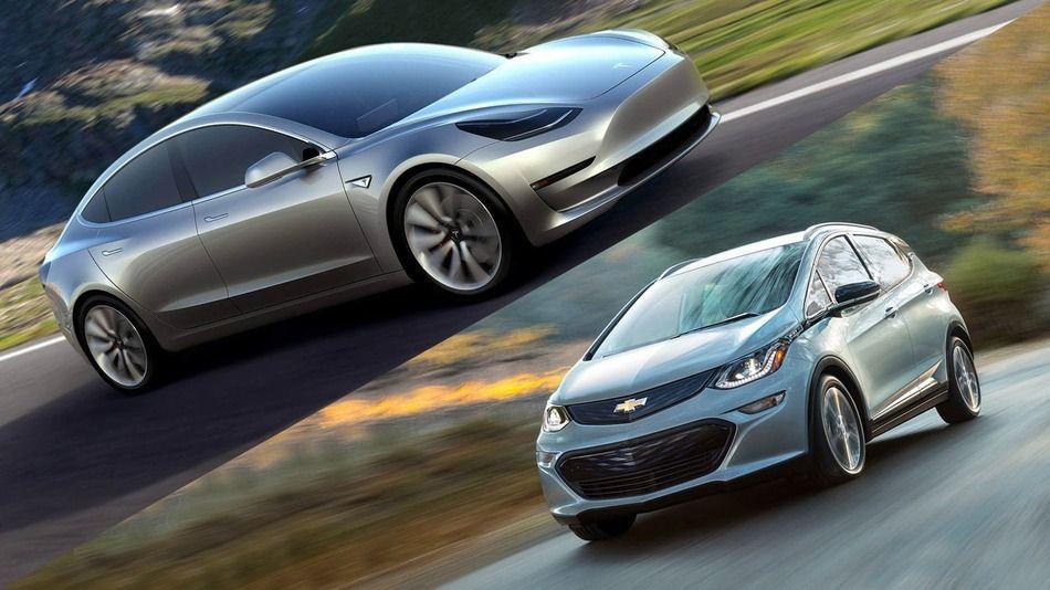 Tesla Model 3 Vs Chevrolet Bolt Battle Of The Long Range Evs Chevrolet Chevy Model