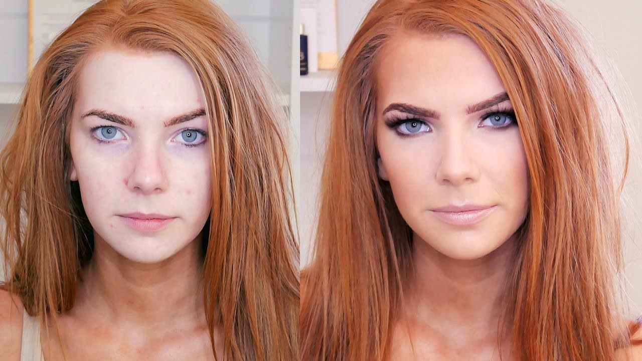 glam makeup tutorial | face by meagan | makeup for red hair