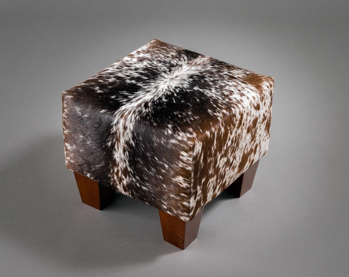 Sensational This Small Cowhide Footstool Is As Cute As A Button For A Ncnpc Chair Design For Home Ncnpcorg