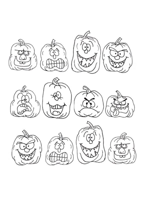 Halloween Coloring pages for kids. Printable. Online Coloring. 19 ...