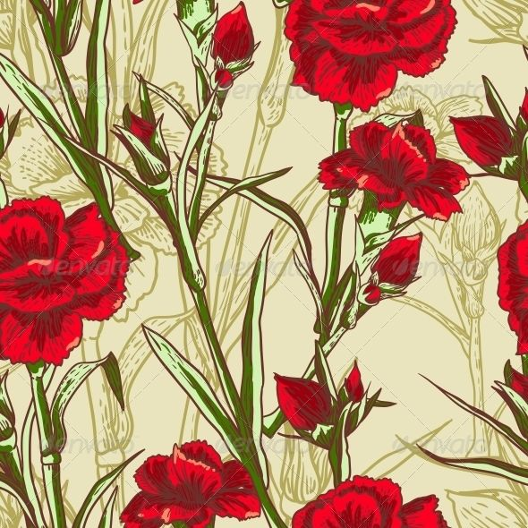 Seamless Floral Background with Carnation  #GraphicRiver         Editable EPS and Render in JPG format, PSD     Created: 5July13 GraphicsFilesIncluded: JPGImage #VectorEPS Layered: No MinimumAdobeCSVersion: CS Tags: abstract #art #backdrop #background #beautiful #blooming #creative #curl #decorative #design #floral #flower #garden #illustration #leaf #modern #nature #organic #ornament #packing #pattern #print #sample #seamless #spring #stencil #stylized #summer #vector #wallpaper