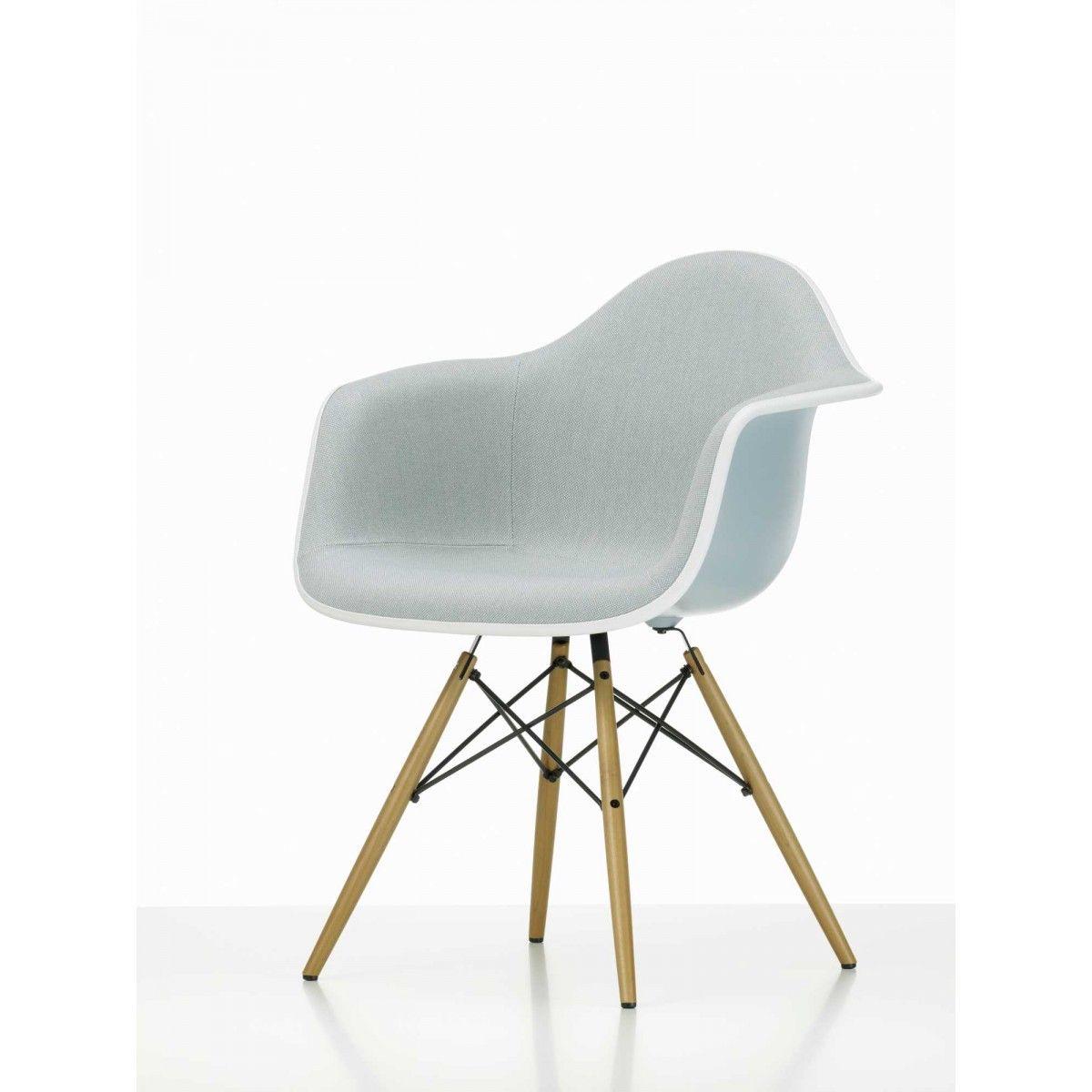 Eames Plastic Arm Chair DAW Stuhl Vollgepolstert Vitra