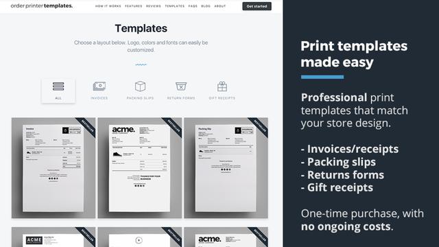 Shopify Order Printer Templates Designs Templates Print Templates Store Design
