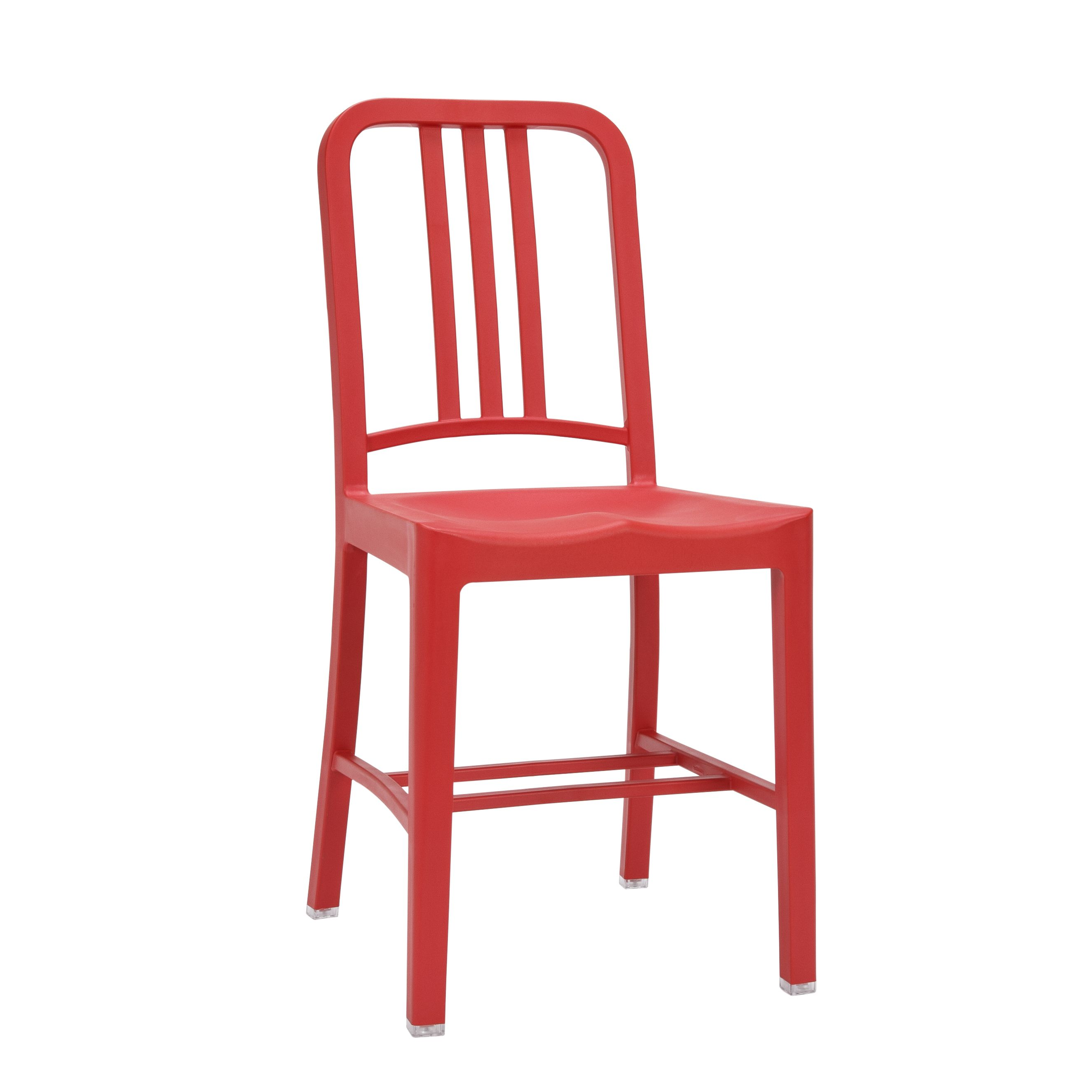 111 Navy® Chair   Red By Emeco
