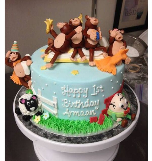 Nursery Rhyme Cake With Images Baby Shower Cakes For Boys