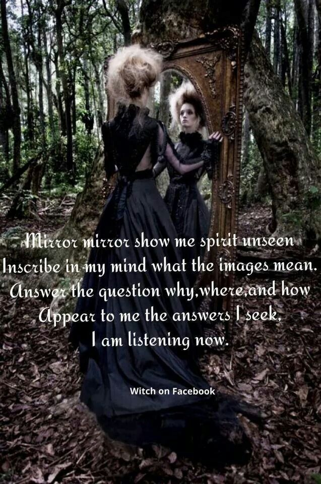 Answers mirror spell see the unseen