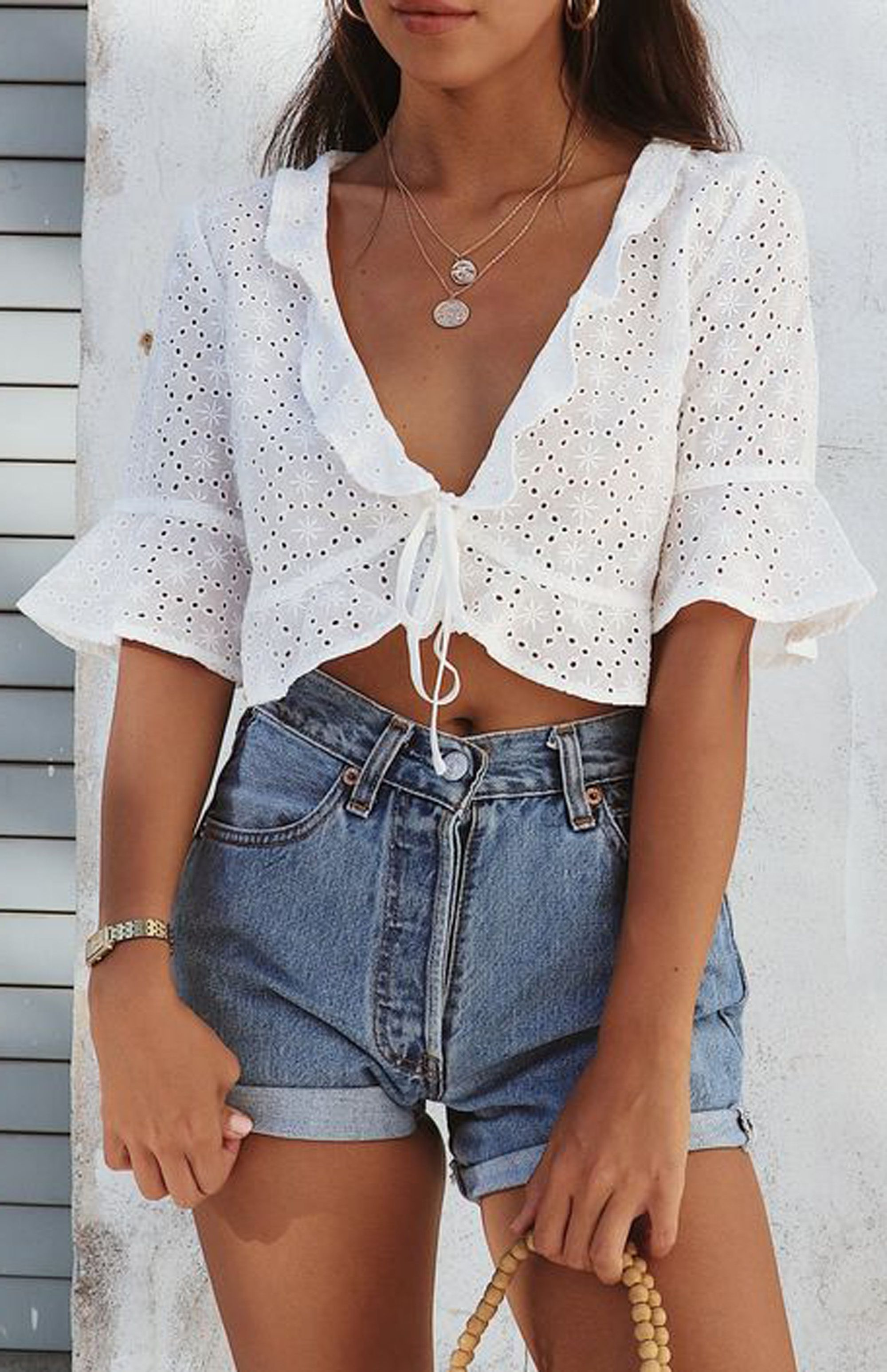 cute summer outfit ideas for teens high waisted vintage ...