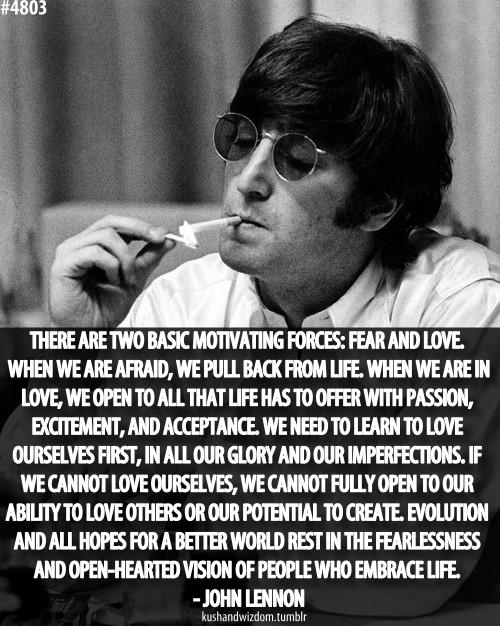 Billedresultat For John Lennon Quotes Love And Fear Wisdom John