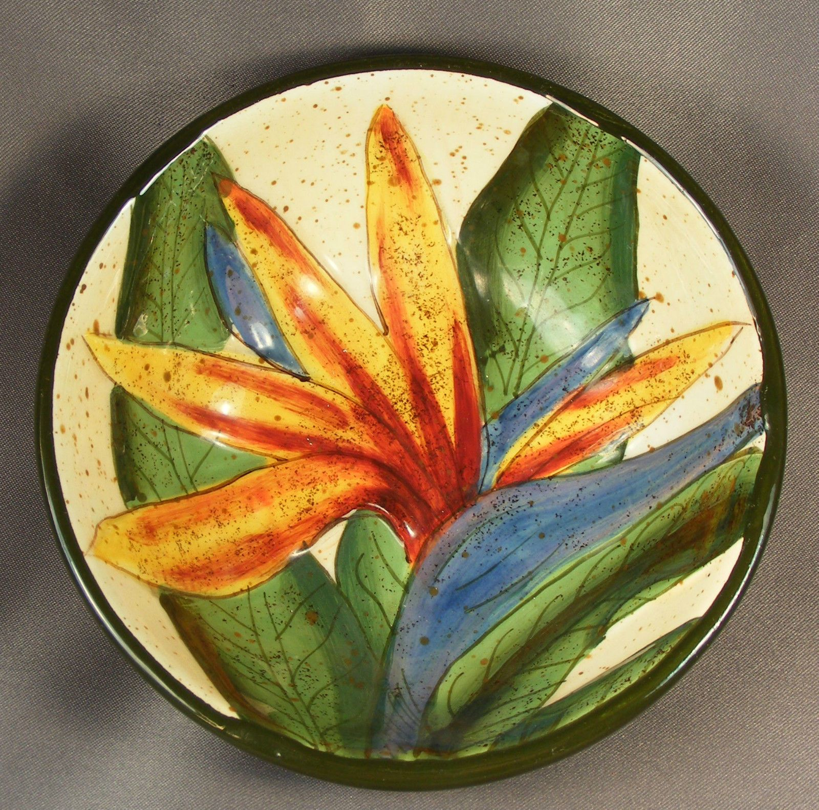 Hard to Find Small Hawaiian Island Plantations Bird of Paradise Flower Bowl | eBay & Hard to Find Small Hawaiian Island Plantations Bird of Paradise ...
