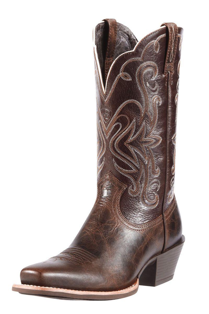 Ariat womens dark brown legend cowgirl boots wedding