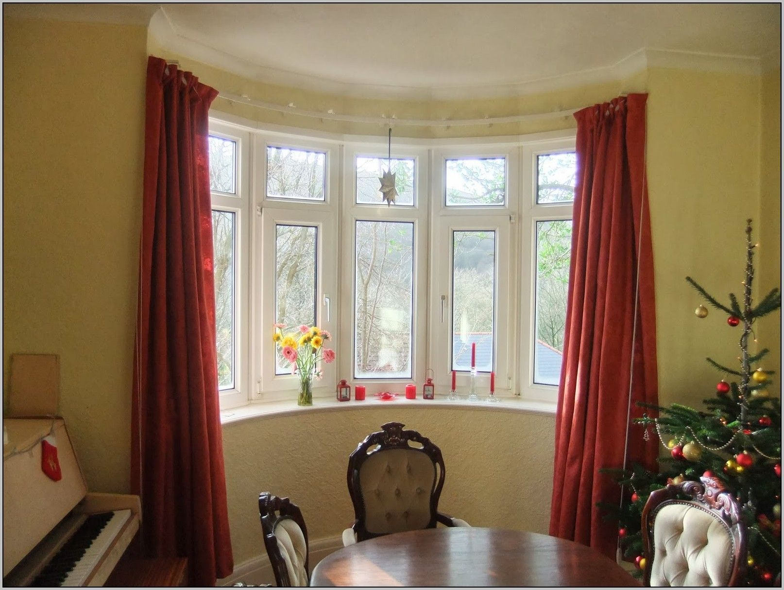living room window valance ideas%0A Arched Window Curtains Rods