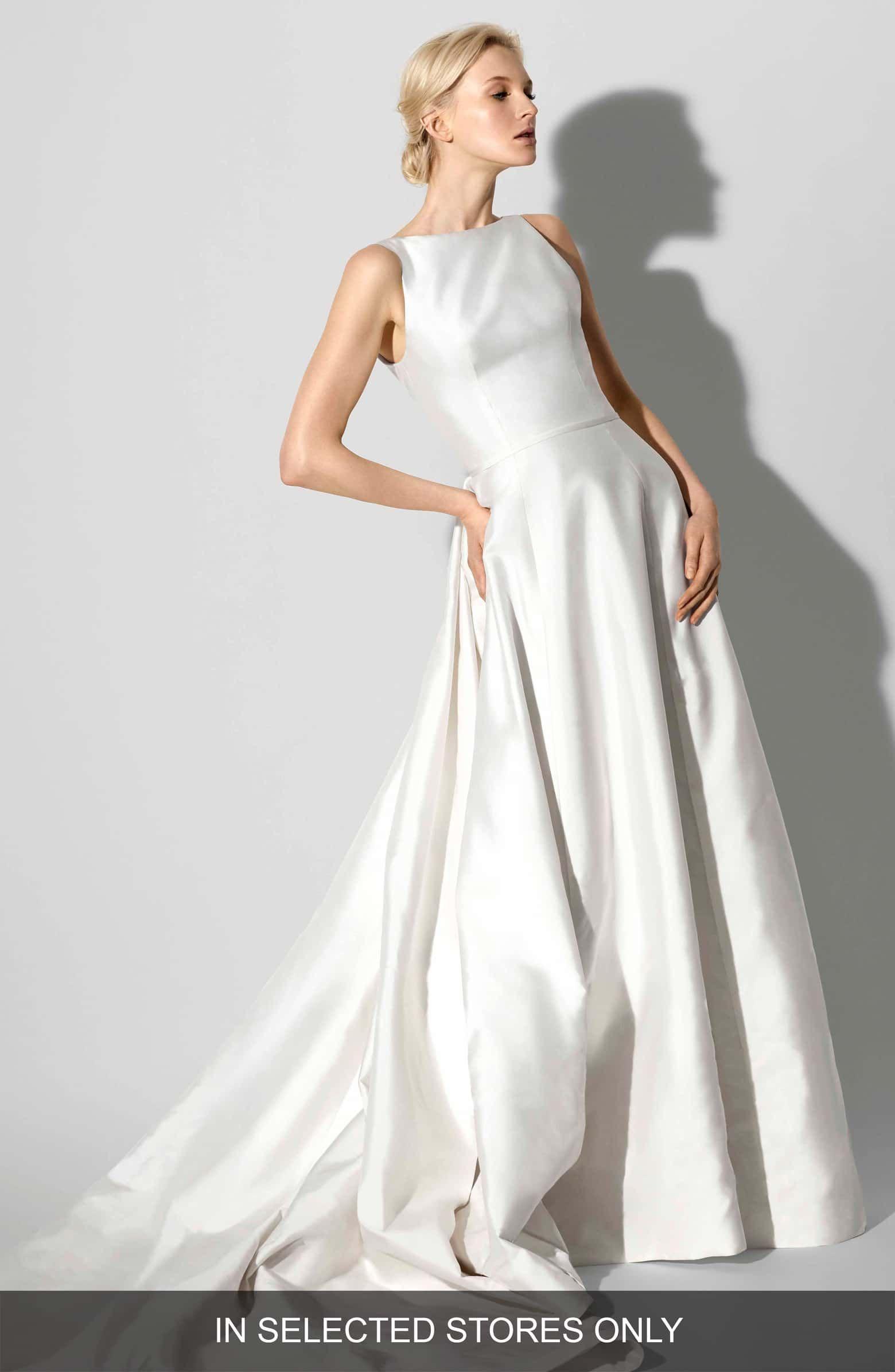 Francesca bateau neck aline gown main color ivory wedding