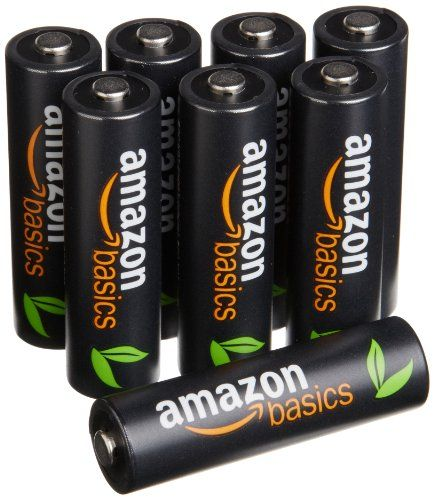 Amazonbasics Aa High Capacity Ni Mh Pre Charged Rechargeable Batteries 8 Pack 500 Cycles Typical 2500mah Min 2 Rechargeable Batteries Recharge Batteries
