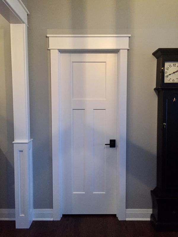 Update Your Doors White Craftsman Style White Interior Doors Craftsman Interior Doors Farmhouse Interior Doors