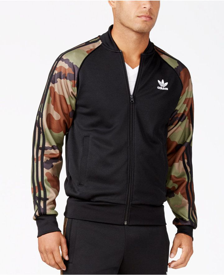 737ae4bd adidas Men's Originals Superstar Camo Track Jacket | Men's Athletic ...