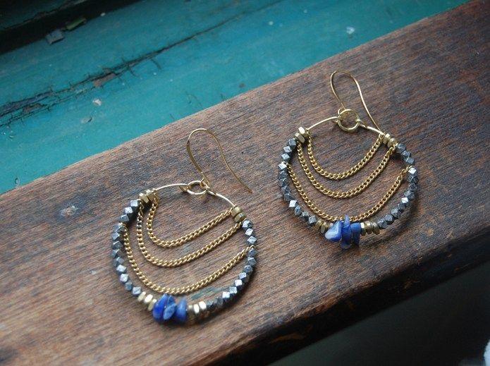 Design Thrift Blog Diy Beaded Hoop Earrings
