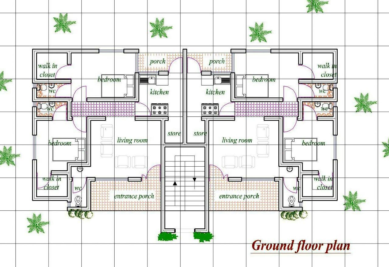 How Many Bedroooms Can Fit In A Half Plot Of Land Lagos Properties 2 Nigeria Model House Plan My House Plans House Construction Plan