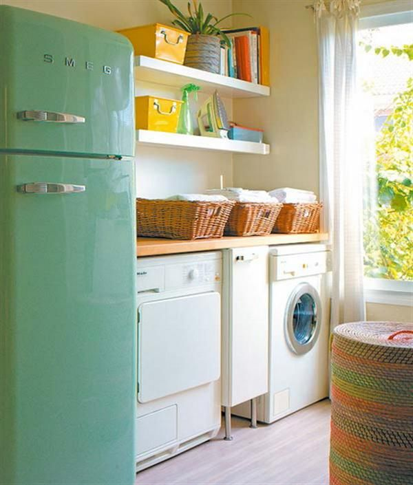Bright And Cute Laundry Room Design