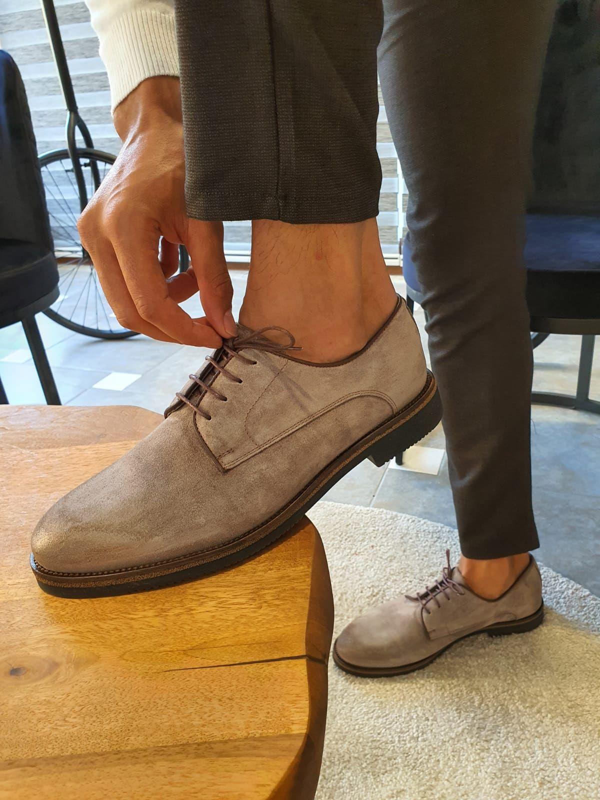 Sardinelli Siena Beige Suede Derbys In 2020 Dress Shoes Men Exclusive Shoes Chukka Boots