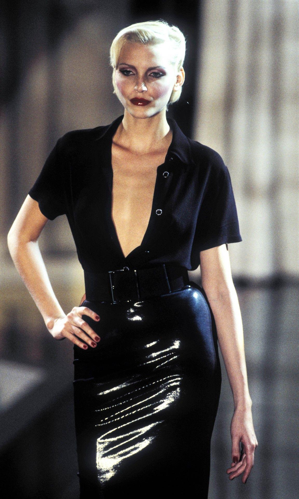Nadja walked for  Versus by Versace 1995
