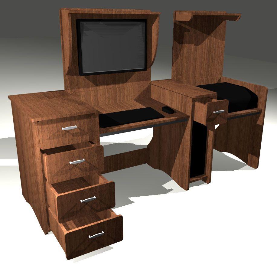 Mesa pc escritorio 2 en 1 tapas impresora a medida - Muebles para pc de escritorio ...