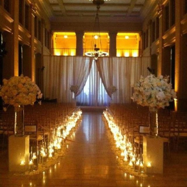 Candlelight Wedding Ceremony: Candlelight Makes This Feel Intimate And Romantic. Some