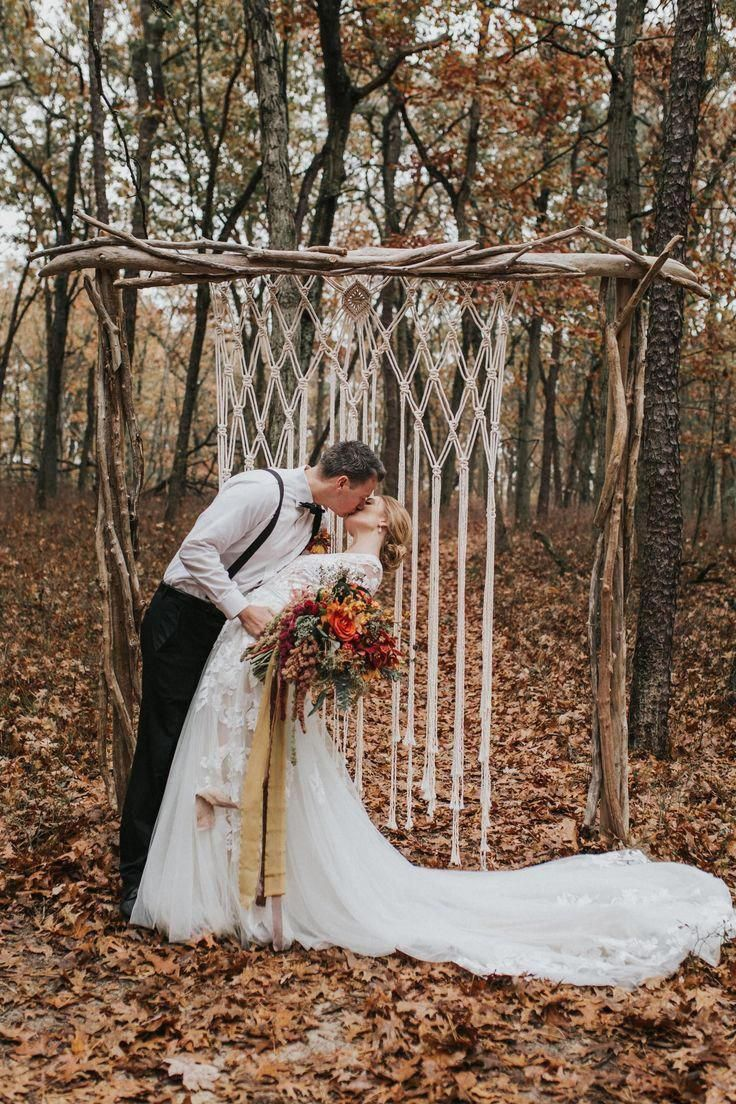 """Sunburst"" Macrame Wedding Arch"