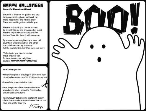 Halloween Treat Phantom Ghost Printable   Printables   Pinterest ...