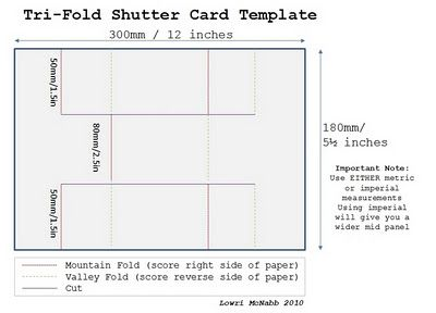 tri fold shutter card template card how to s pinterest tri