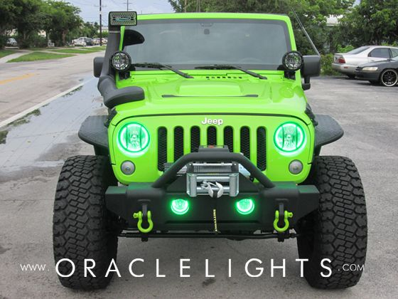 2007 2014 Jeep Wrangler Jk Oracle Halo Kit Jeep Wrangler Jk Jeep Green Jeep