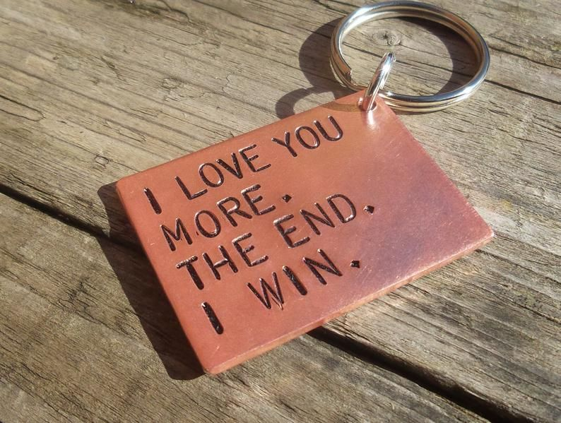 I love you more the end i win funny copper anniversary
