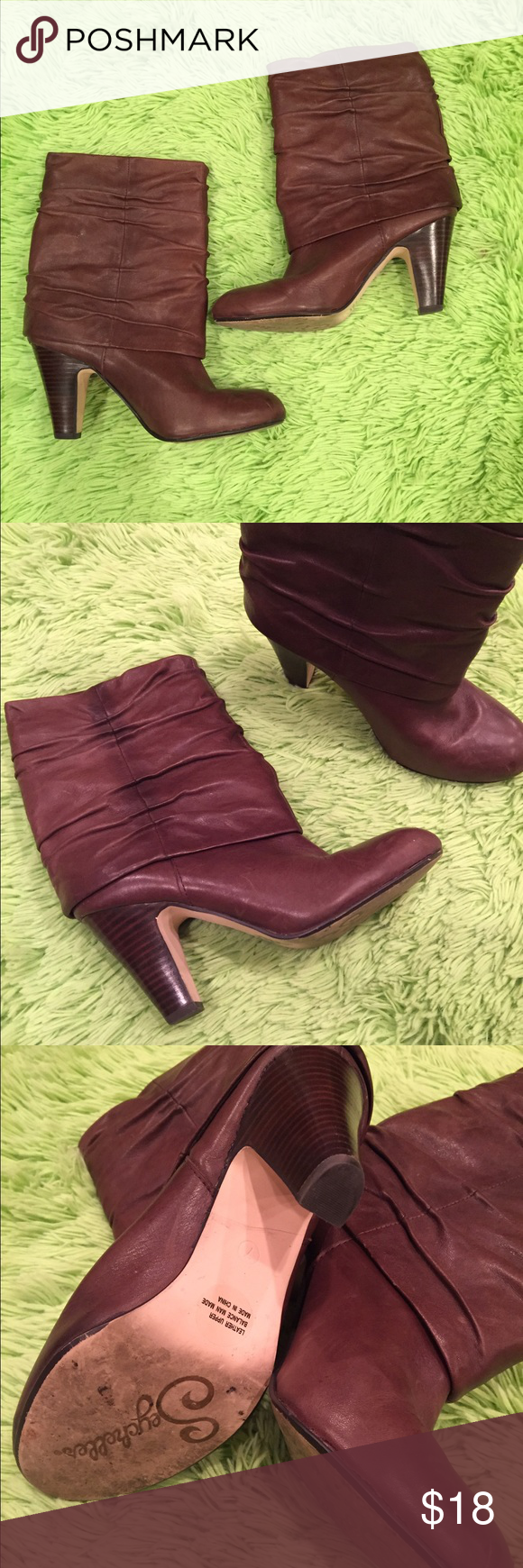 Seychelles Brown leather booties Cute brown leather booties - only worn a few times.... size 7 but guys more like a 7 1/2 Seychelles Shoes Ankle Boots & Booties