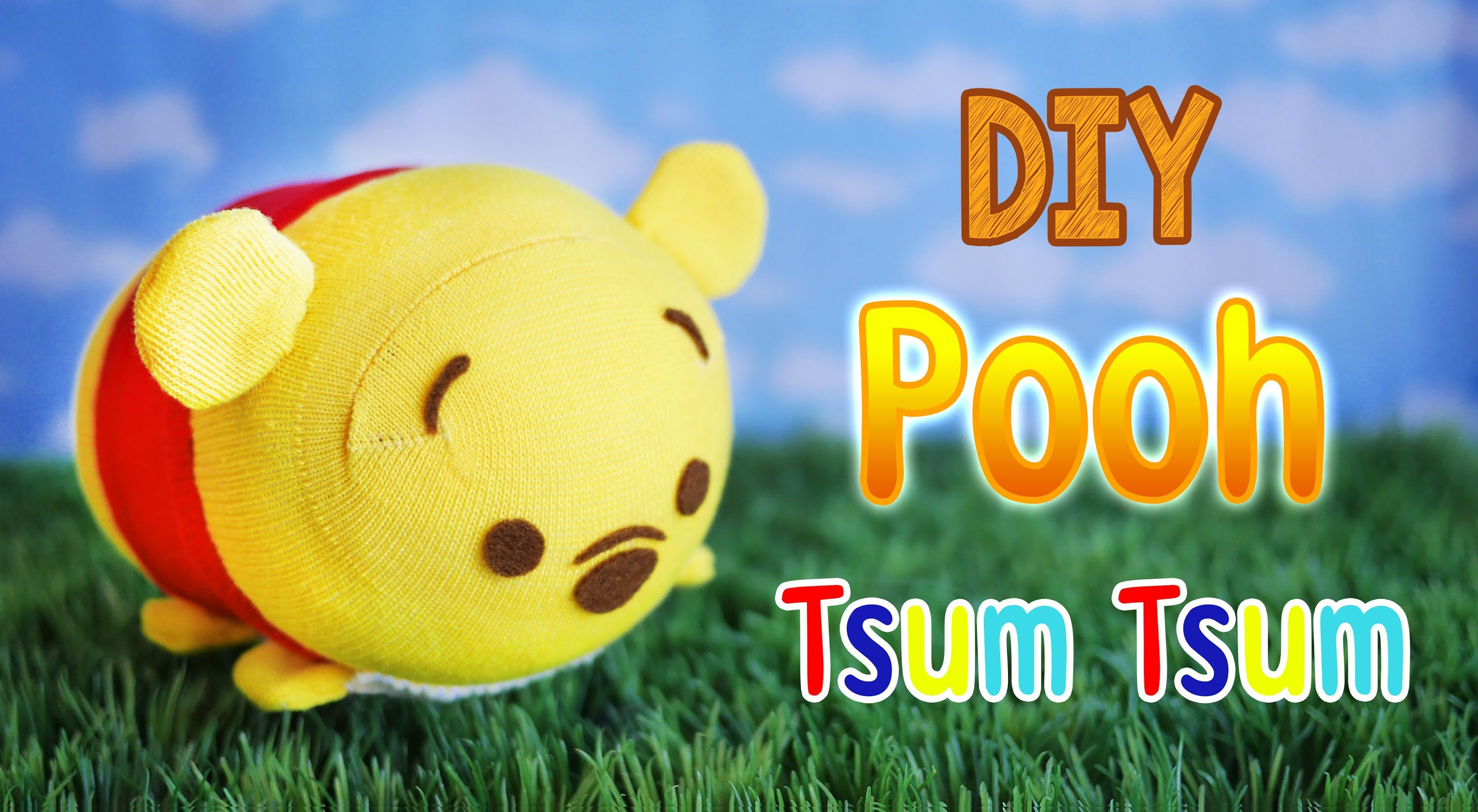 DIY Pooh Tsum Tsum Disney Plushie | Collaboration with ...