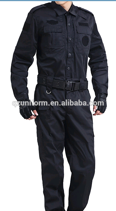 Army Suit Style Navy Blue Ripstop Security Guard Combat Uniforms Combat Uniforms Security Guard Suit Fashion
