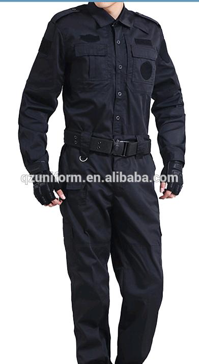 Army Suit Style Navy Blue Ripstop Security Guard Combat Uniforms Combat Uniforms Suit Fashion Tactical Uniforms