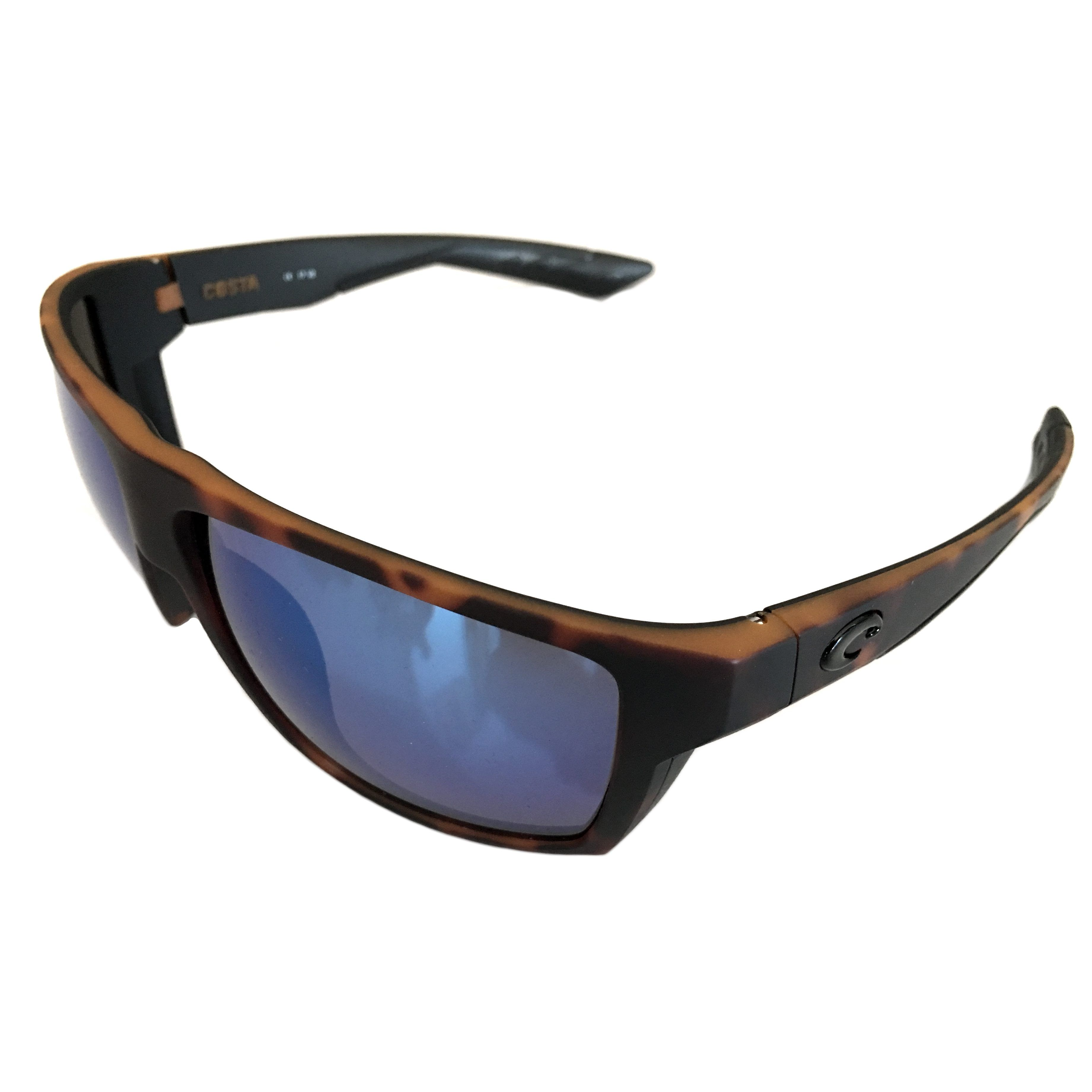 84b5776217a7 Costa Del Mar Bloke Sunglasses – Matte Tortoise Frame – Polarized Blue  Mirror 400G | NativeSlope.com