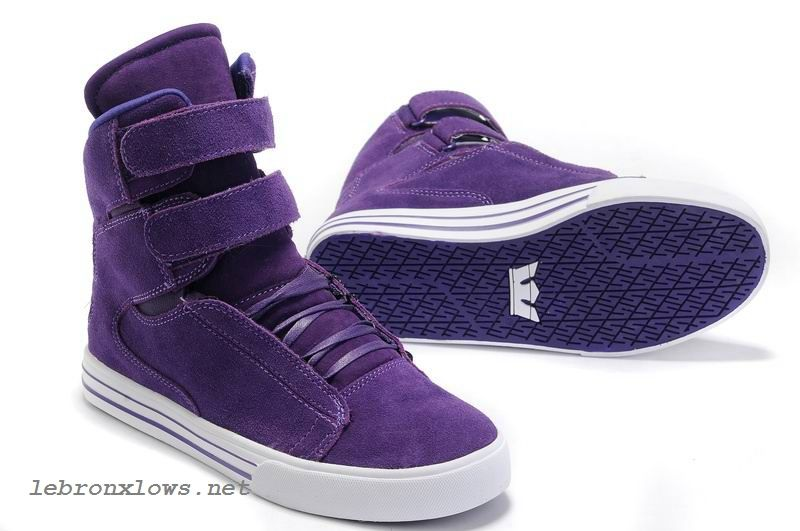 love it~ Justin Bieber Supra Shoes For Girls TK Society High Top All Purple  Suede