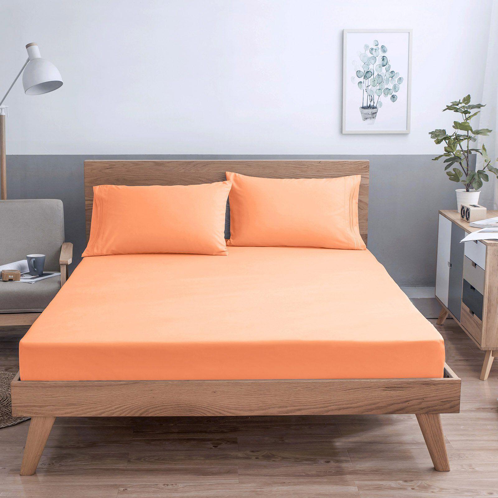 VEEYOO Bed Sheet Set Full Size Extra Soft 1800 Thread