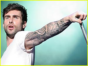 Adam Levine lead singer of Maroon 5 I would kiss his face!