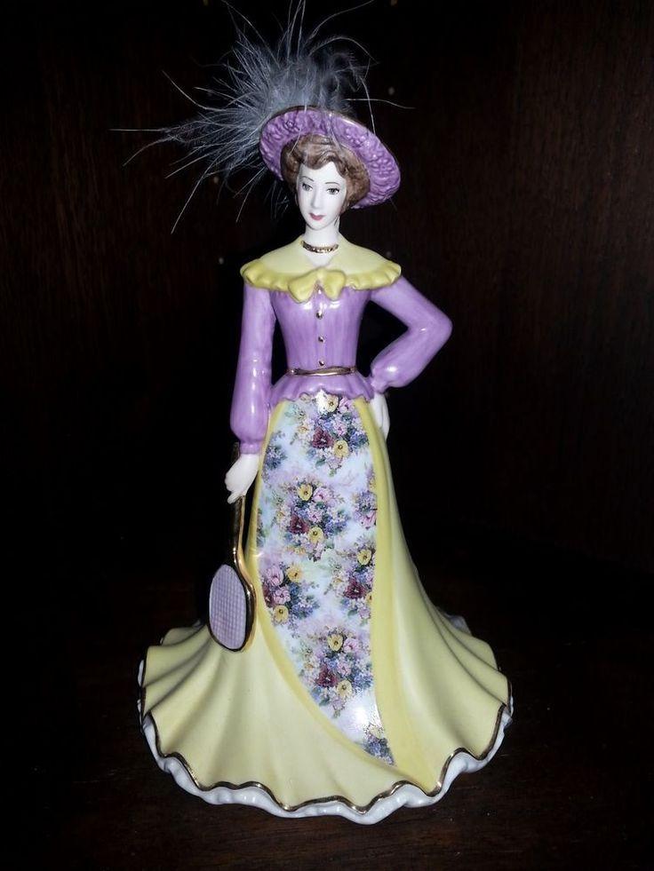 Bradford Editons Lena Liu Elegant Era Match Point porcelain bell figurine