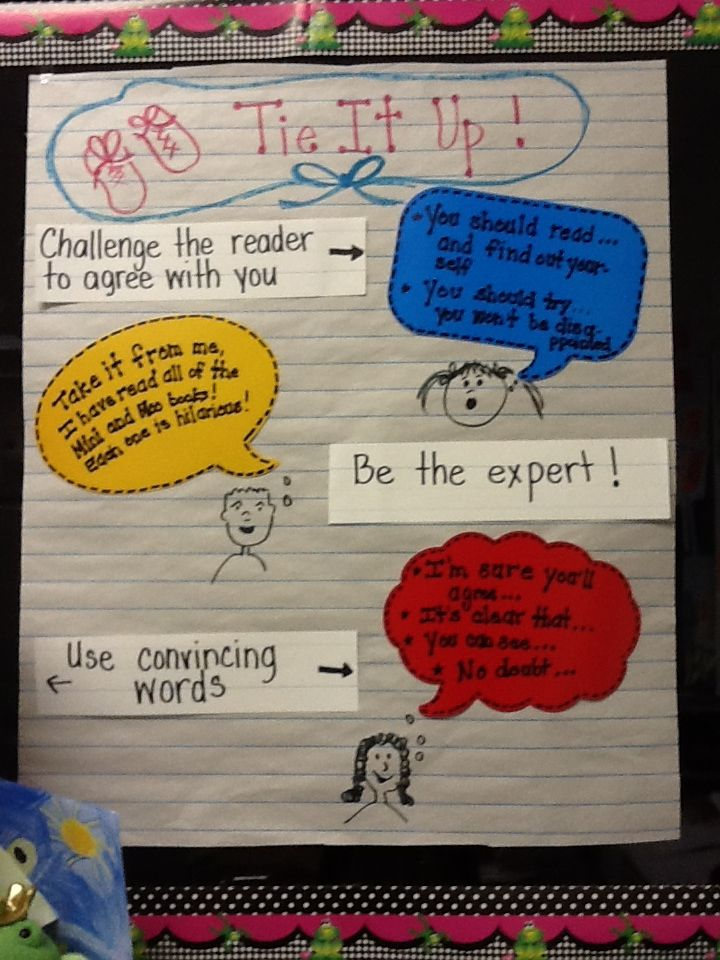 Conclusion work for 2nd grade opinion writing | LITERACY