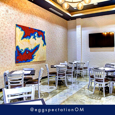 Our private party room is sure to exceed your eggspectations