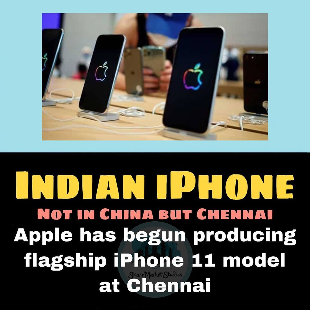 Sharemarketstudies Com S Instagram Post The I In Iphone 11 Now Stands For India Made Apple For The First Time Makes A Iphone 11 Instagram Posts Iphone