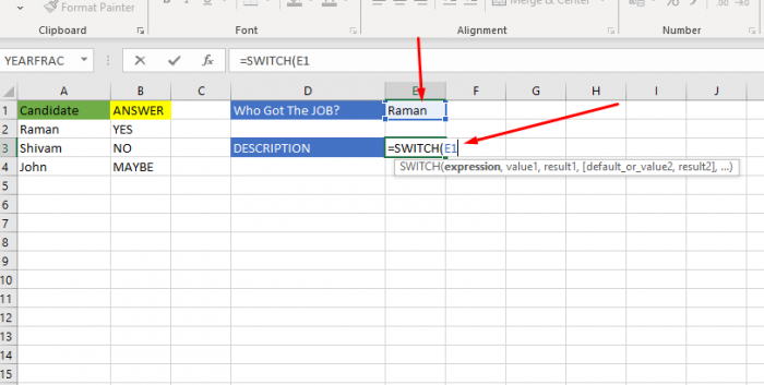 How To Use Switch Formula In Excel 2 Simple Steps Excel Tutorials In 2020 Excel Tutorials Excel Formula