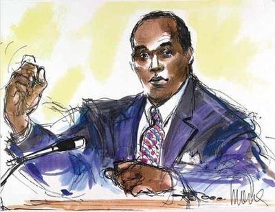 Celebrity Courtroom Sketch Oj Simpson I Think Courtroom