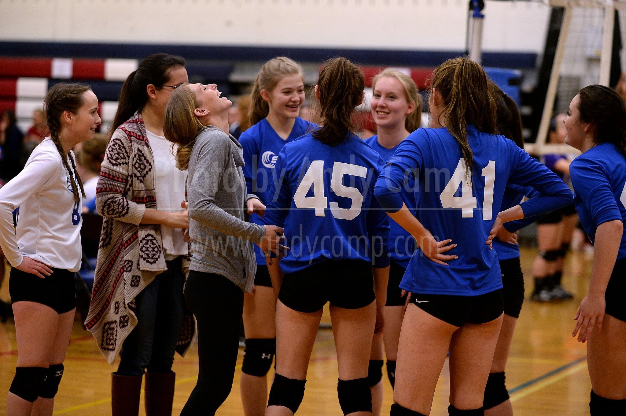 Coach Laughing At Our Jokes During A Time Out Me And My 16u Tornadoes Team At The Winter Volleyfest Tournament 1 29 17 Volleyball Team School Team Tornadoes